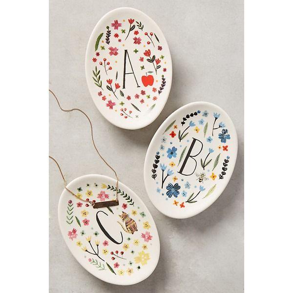 Schmuckstück-Teller mit Monogramm #potterypaintingdesigns