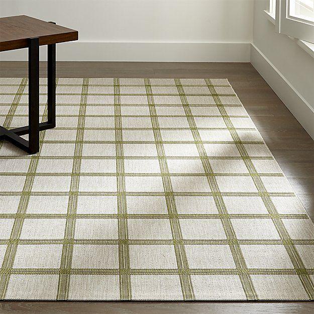 Koen Grid Green Indoor-Outdoor Rug
