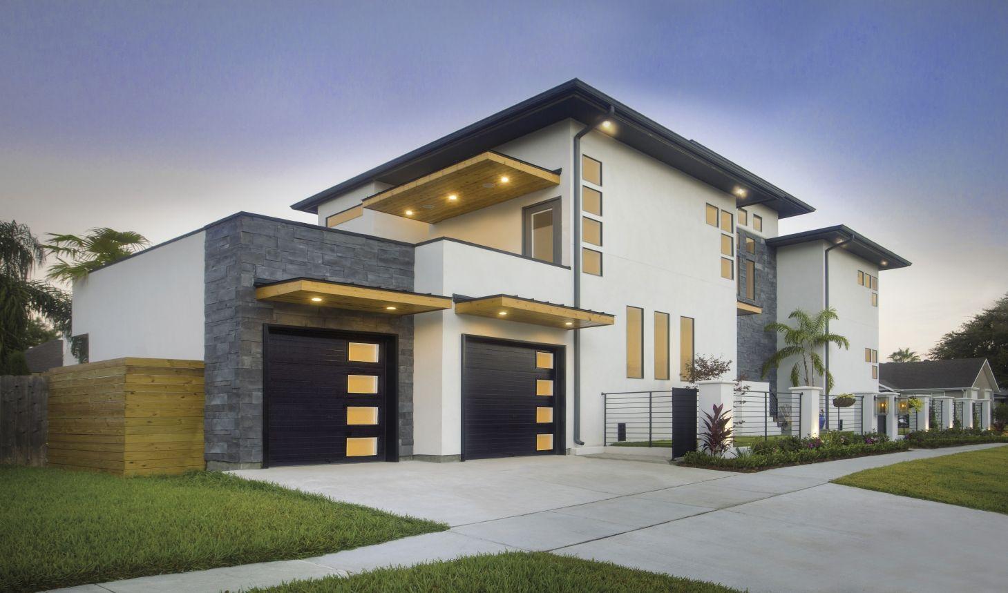 Garage Doors For Modern Home Styles Sleek Black Clopay