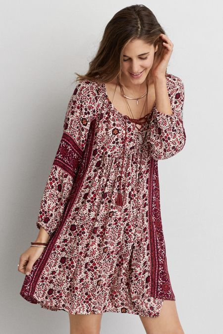 efa7718371 American Eagle Outfitters AEO Pattern Shift Dress