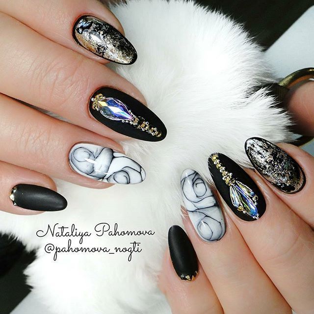 Black magic nail design! Ugly Duckling nails by Ugly Duckling family ...