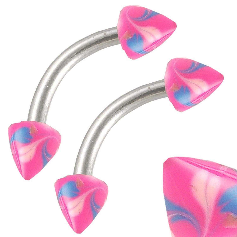 See through nose piercing  g  gauge  Surgical Steel eyebrow lip HP ear tragus rings