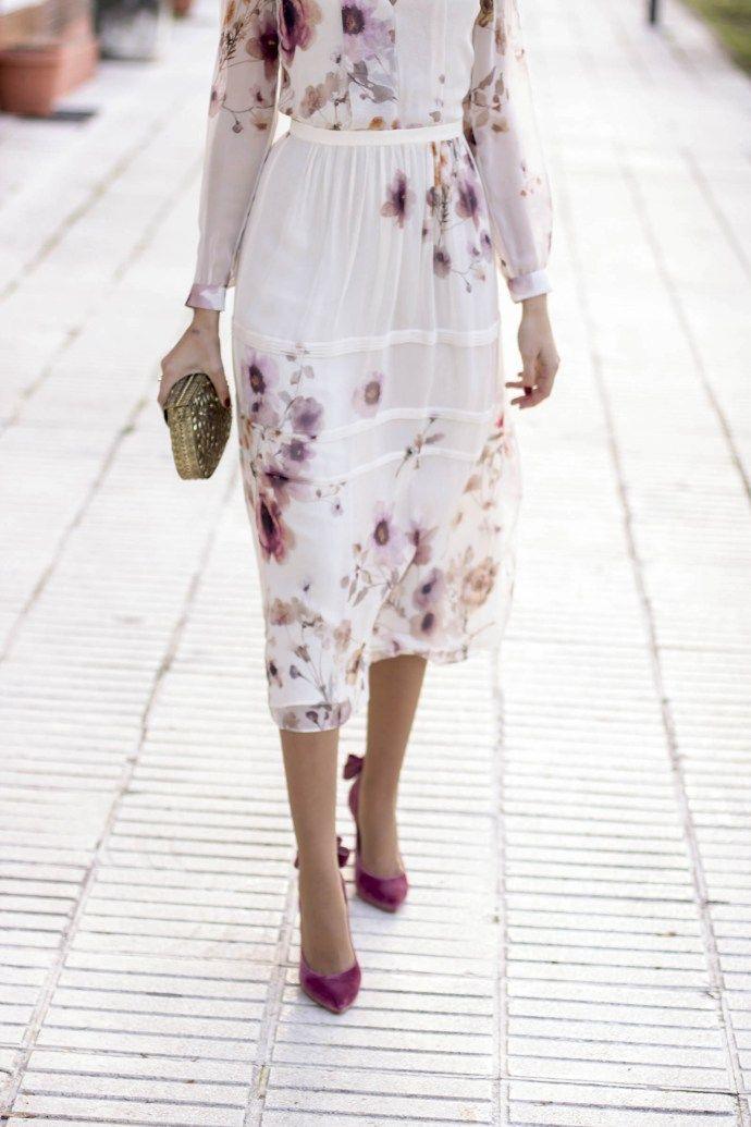 look invitada boda dia zapatos terciopelo salo madrid | invitada