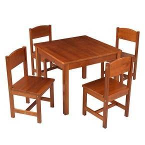 Farmhouse Table 4 Chair Pecan - KidKraft  sc 1 st  Pinterest & Farmhouse Table 4 Chair Pecan - KidKraft | Farmhouse table ...