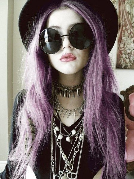Punk goth witch style
