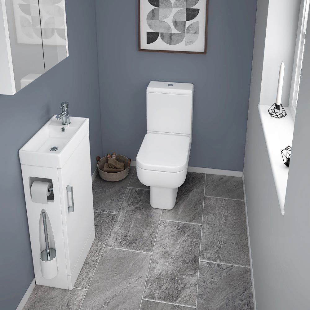 Milan Compact Complete Cloakroom Suite Small Toilet Room
