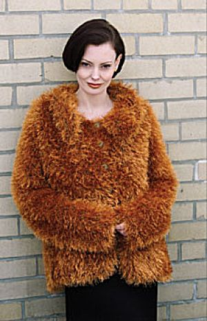Knit Luxe Faux Fur Jacket Free Pattern Needled Free Patterns