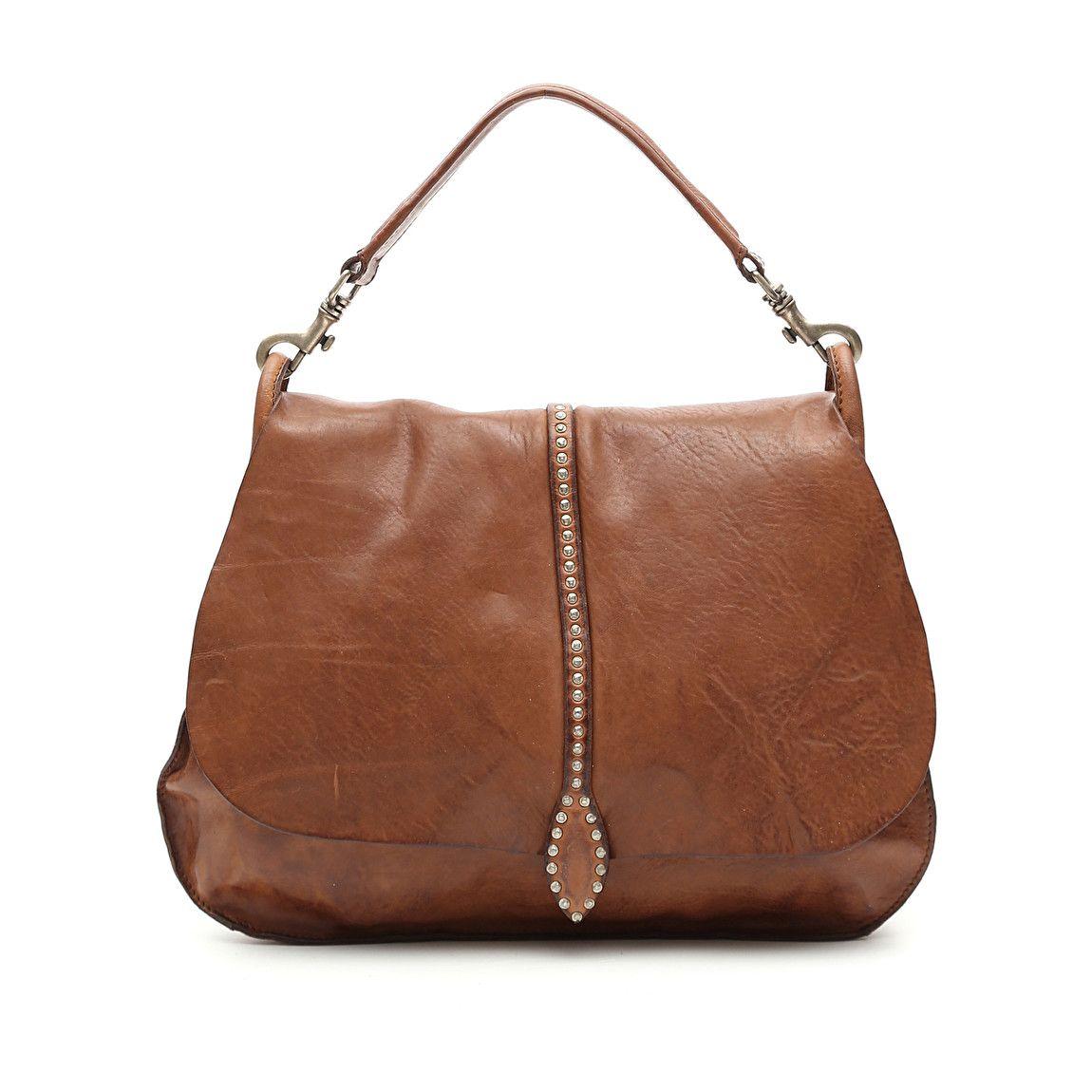 Baldric Bag In Cognac Leather With Artemisia Decoration Bags