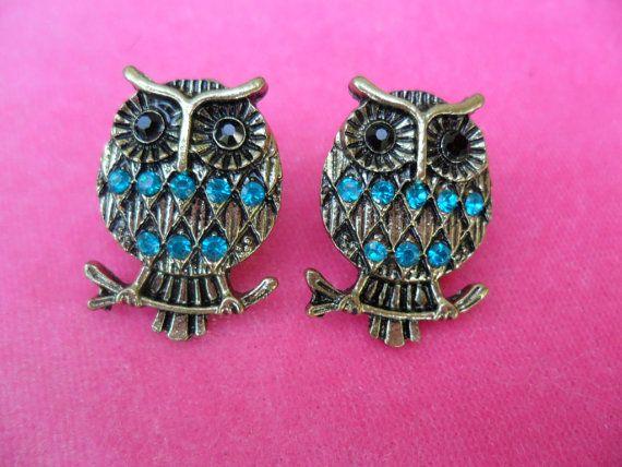 Owl earrings owl jewelry womens jewelry by kentuckykreative3, $6.00