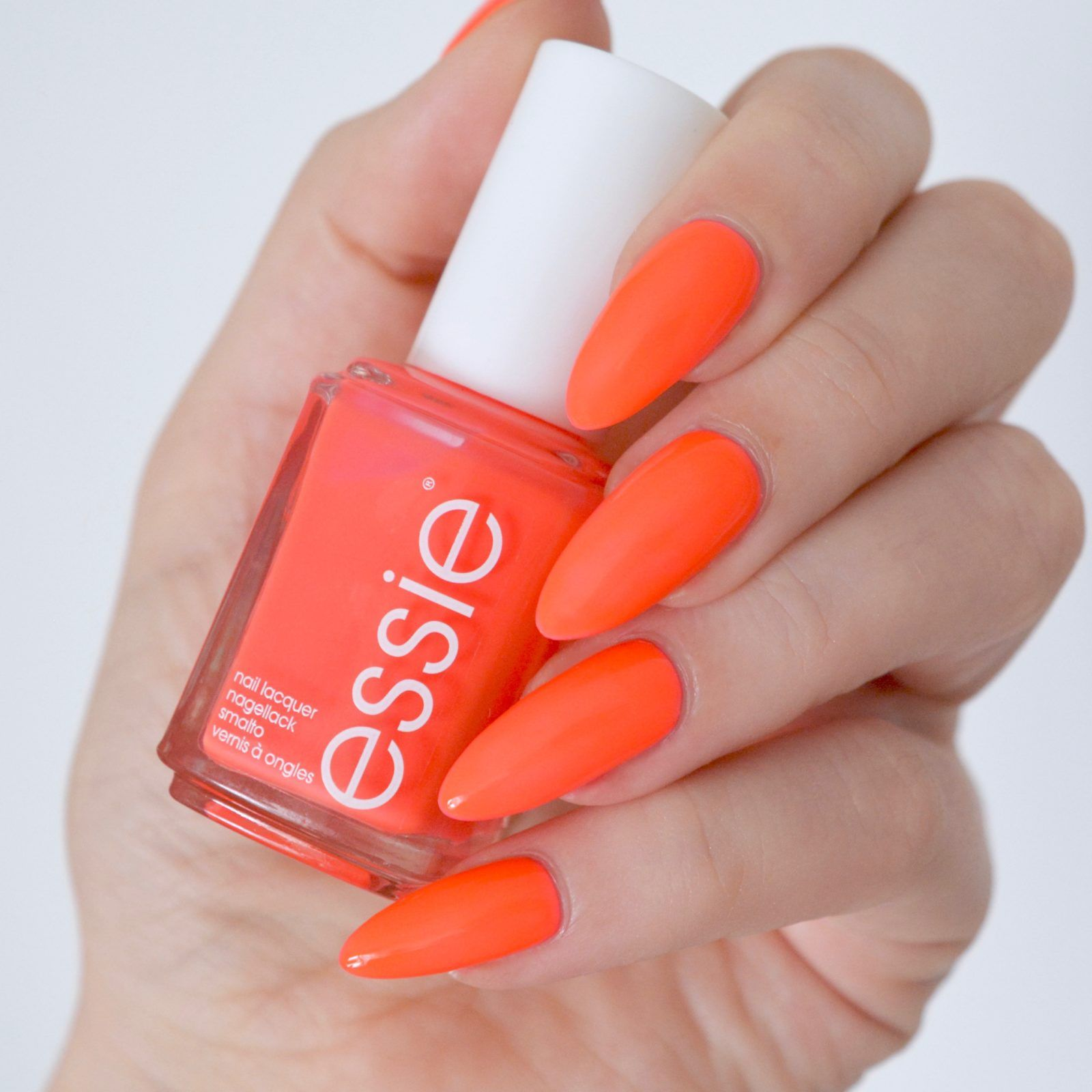 Essie Neon 2017 Review With Swatches | Pink nails, Neon and Nail inspo