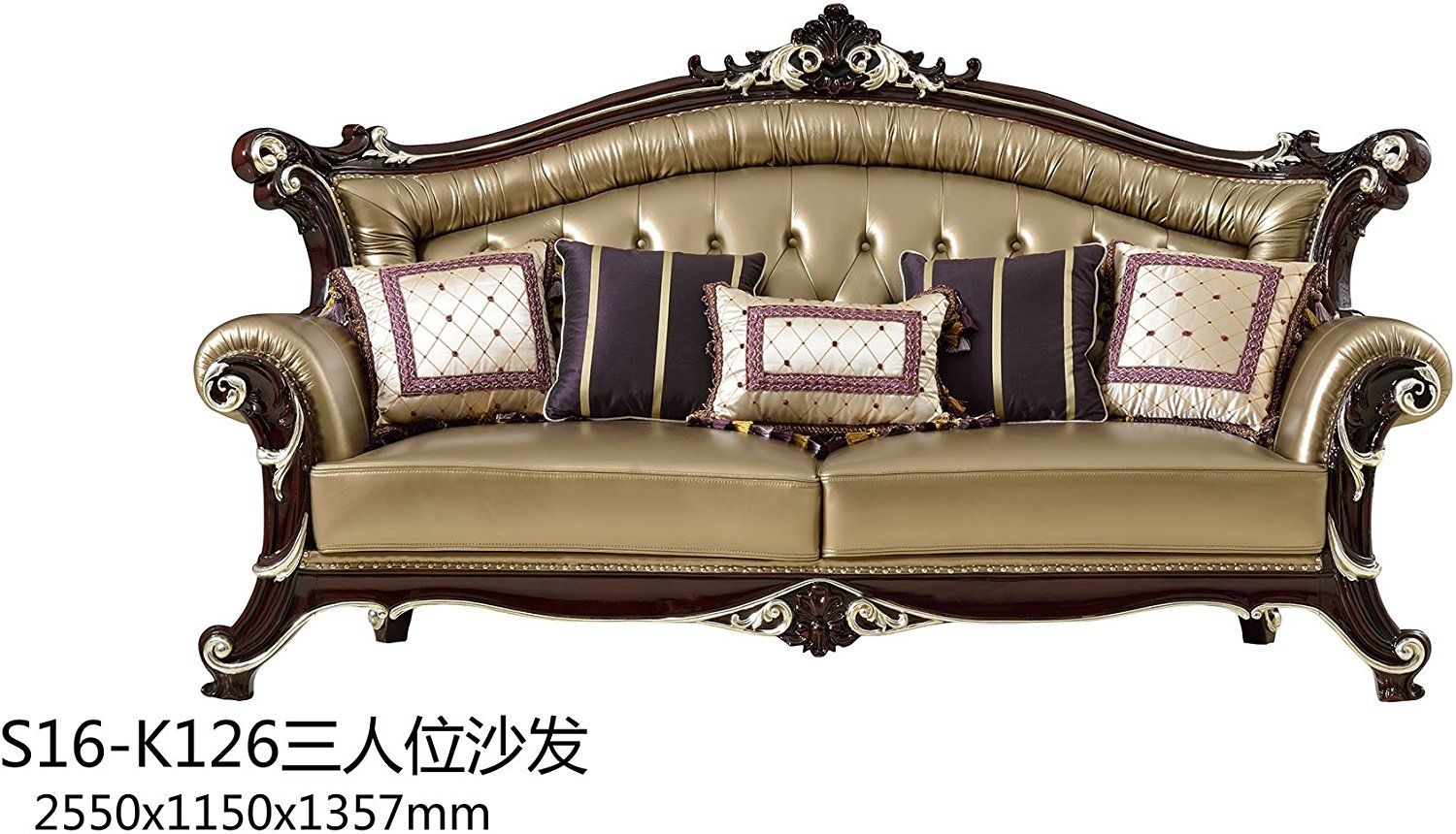 loveseat image sofa frame piece back pillow wood chair and