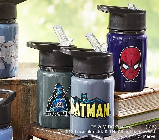 Heroes Amp Villains Water Bottles Pottery Barn Kids Water