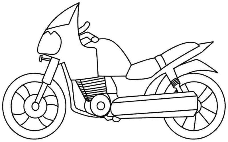 Printable Motorcycle In 2020 With Images Coloring Pages For