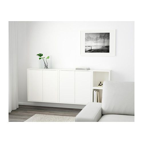 Eket wall mounted cabinet combination white wall mount - Ikea tv wand ...