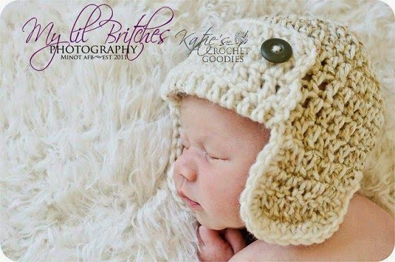 Free Aviator hat pattern for baby (pilot or bomber hat) 79b2a2a7e91