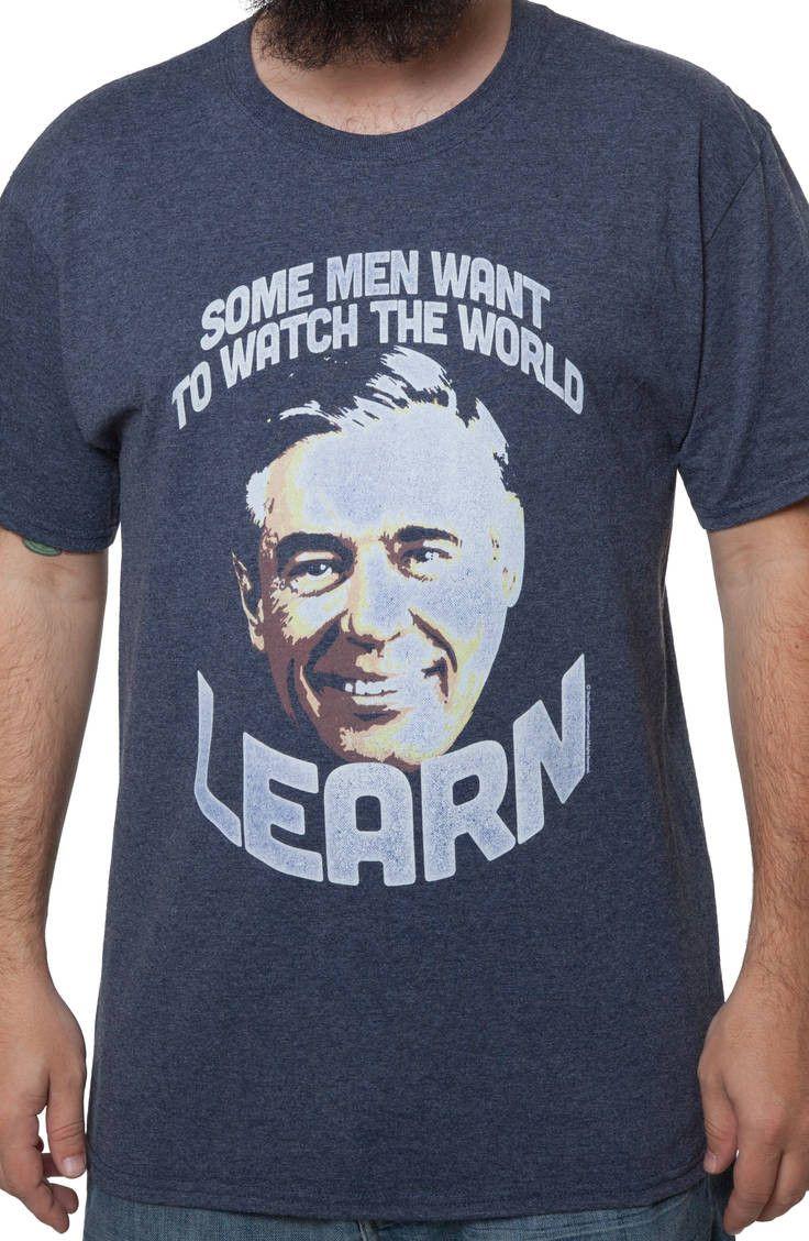 Watch The World Learn Mr Rogers T Shirt Mr Rogers Mens Tshirts T Shirt