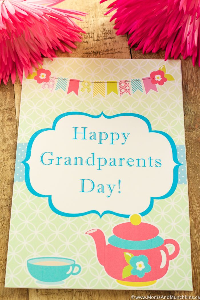 Grandparents Day Card Free Printable Grandparents Day Crafts