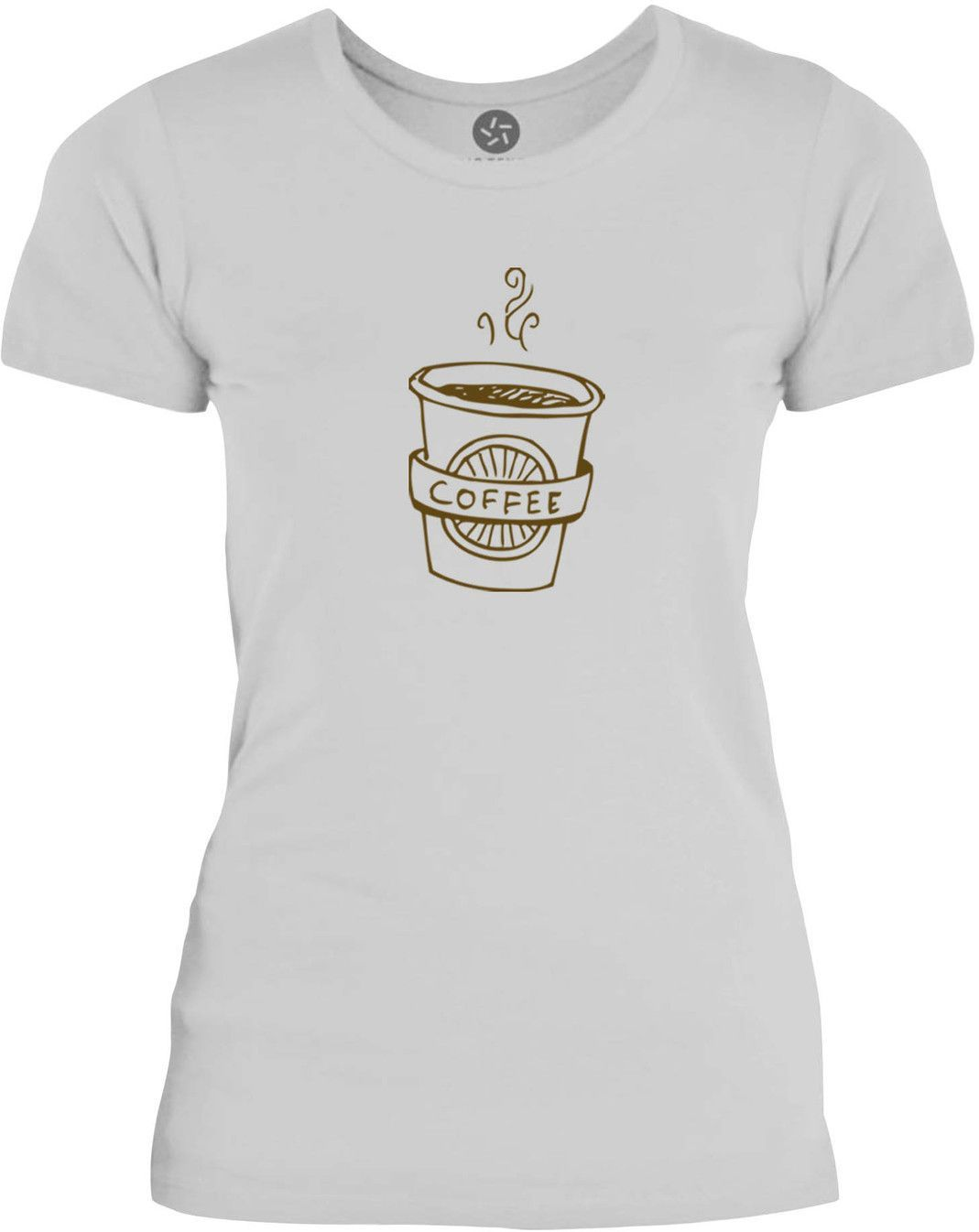 Big Texas Hand Drawn Coffee Cup (Brown) Womens Fine Jersey T-Shirt