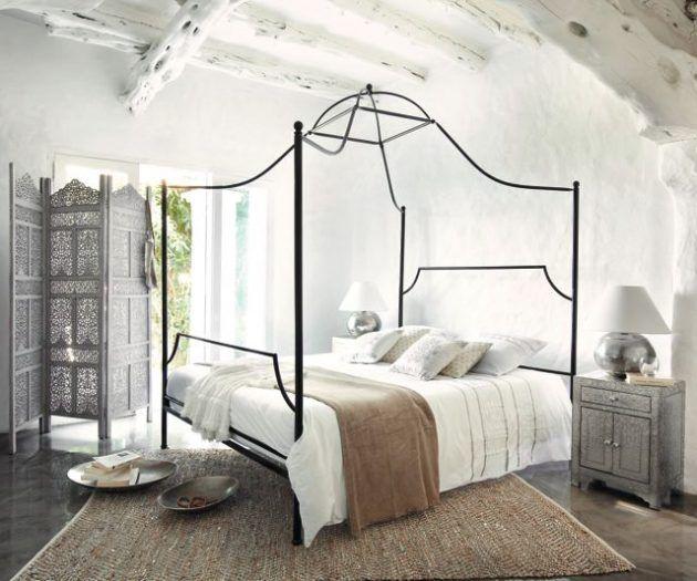 Himmelbett mit schwarzem Metallgestell von Maison du Monde * Ideen - ideen frs schlafzimmer