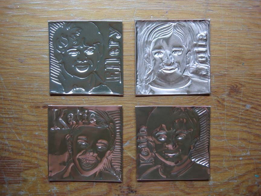 Embossing Drawings On Tin And Copper Sheets King Tut