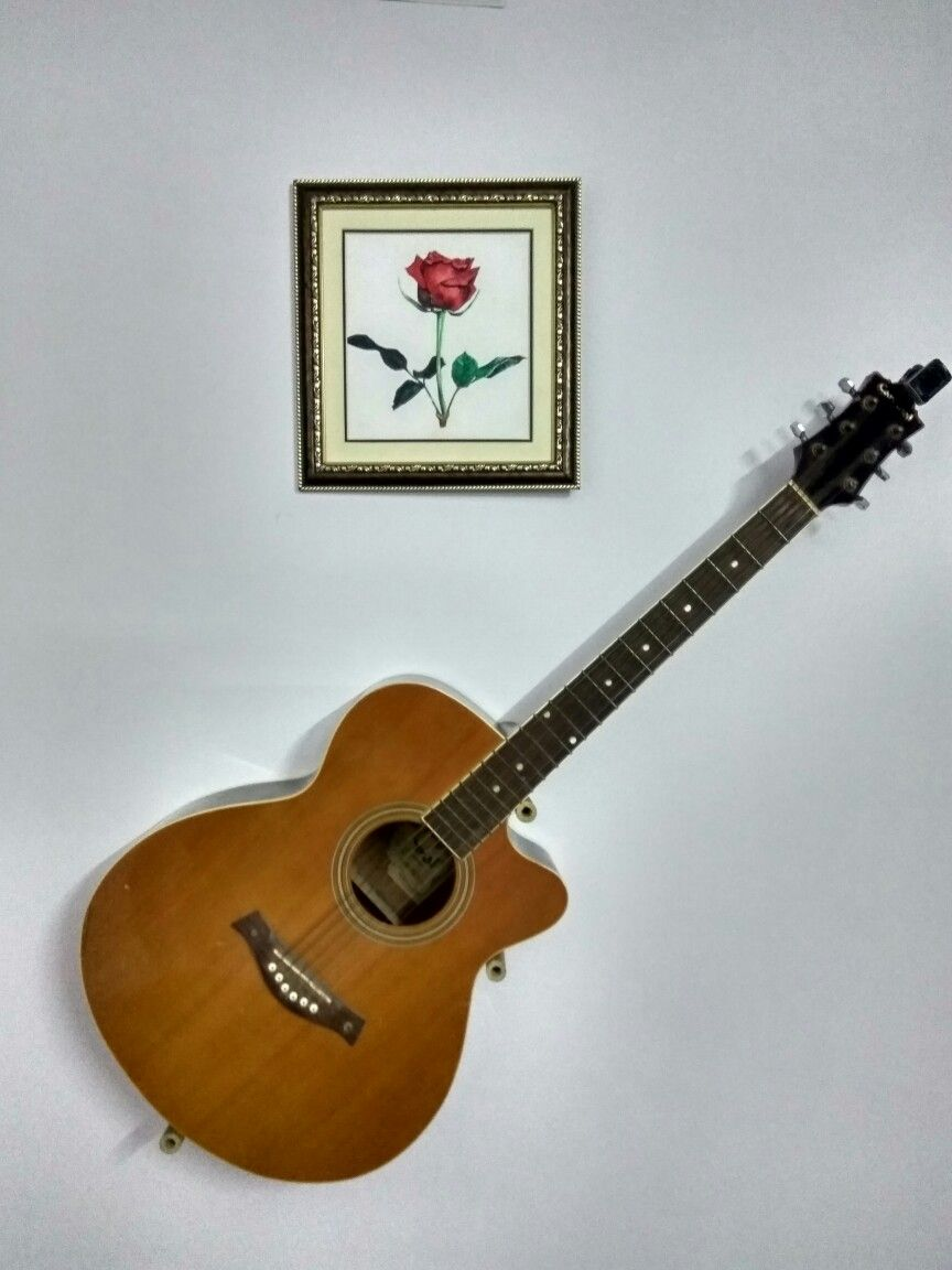 Simple Diy Guitar Wall Mount Guitar Wall Guitar Wall Hanger Guitar Hanger