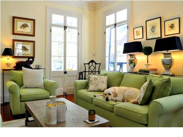 My Notting Hill Apple Green And Black Green Sofa Living