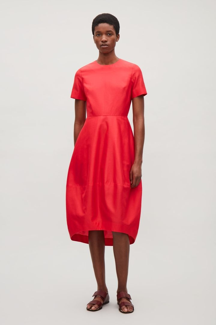 Cos Image 1 Of Dress With Cocoon Skirt In Watermelon Style Pinterest Red Fashion Clothes