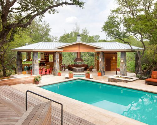 houzz pool house design ideas remodel pictures pools 25 - House Pools Design