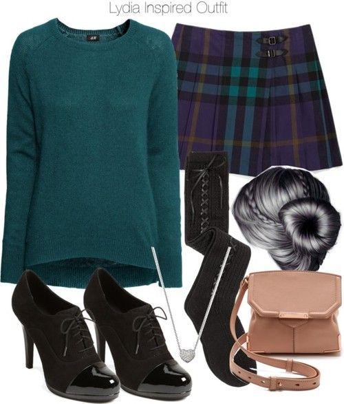 H M blue jumper, $33 / Knee high socks / Franco Sarto oxford platform pumps / Alexander Wang crossbody purse / Swarovski jewelry, $115 / Burberry 'Sonja' Skirt (Little Girls & Big Girls) Dark Royal Purple 10