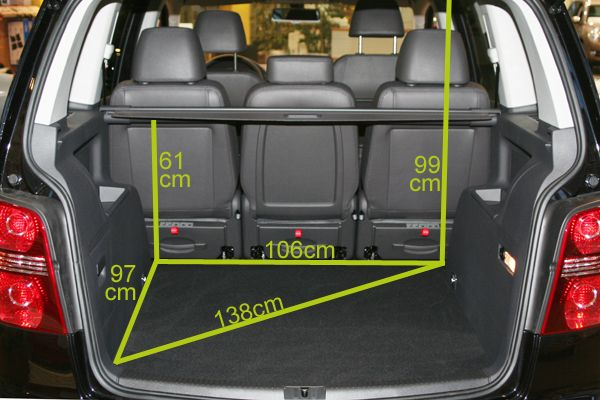 poussette magazine coffre voiture auto vw touran 061 coffre auto de la vw touran family. Black Bedroom Furniture Sets. Home Design Ideas
