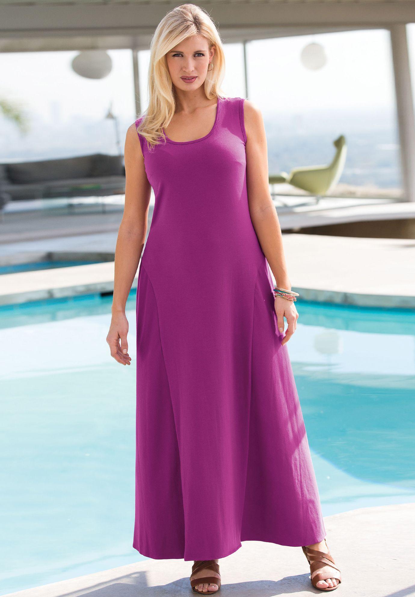 Maxi Tank Dress   Plus Size Petites   Jessica London - This tank ...