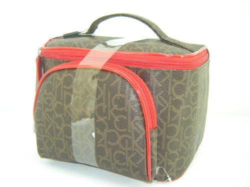 25990eba9e6 calvin klein bag ross Calvin Klein Signature Toiletry Train Cosmetic Case  Make Up Bag 2 .