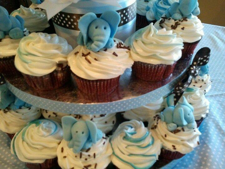 Baby Shower Elephant Cupcake Towers For Boys Elephant Theme Baby