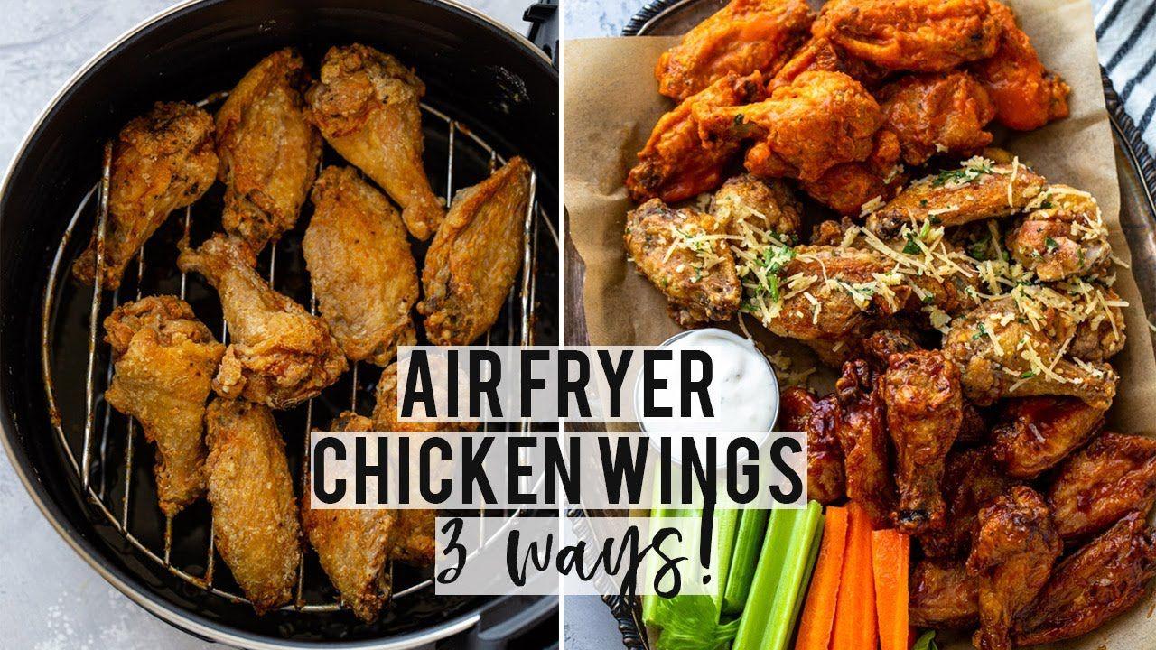 Super CRISPY Air Fryer Chicken Wings (3 ways!)🔥 YouTube