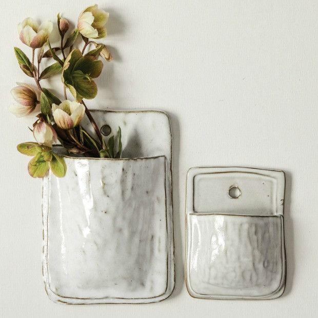 Ceramic Wallscape Planter, Set of 2