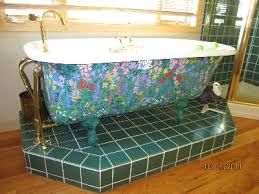 Painted Clawfoot Tub Exterior Google Search