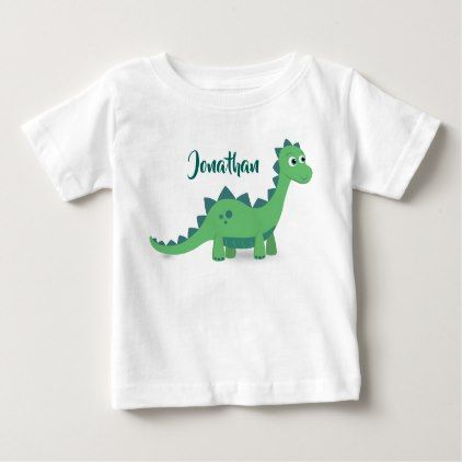 Personalized dinosaur green blue kids t shirt party gifts negle Gallery