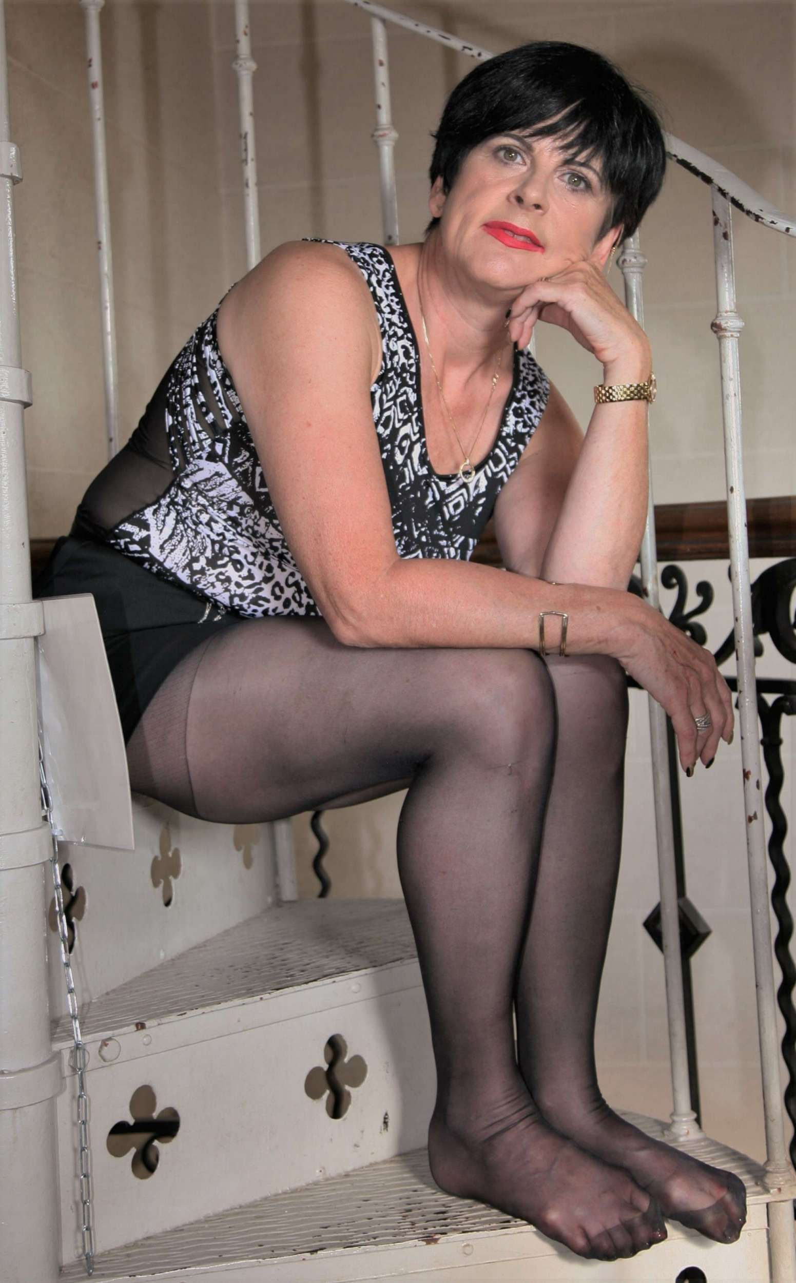 Spanish milf in pantyhose tits Total