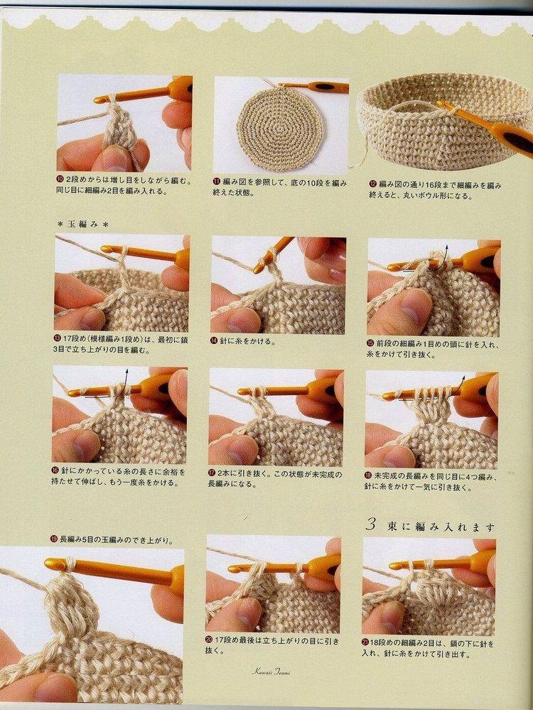 Bolso Saco Crochet Paso a Paso   Patrones para Crochet   ganchillo ...
