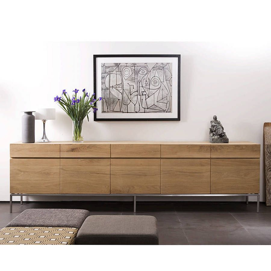 love contemporary oak sideboard ligna by 4living entertainment unit. Black Bedroom Furniture Sets. Home Design Ideas