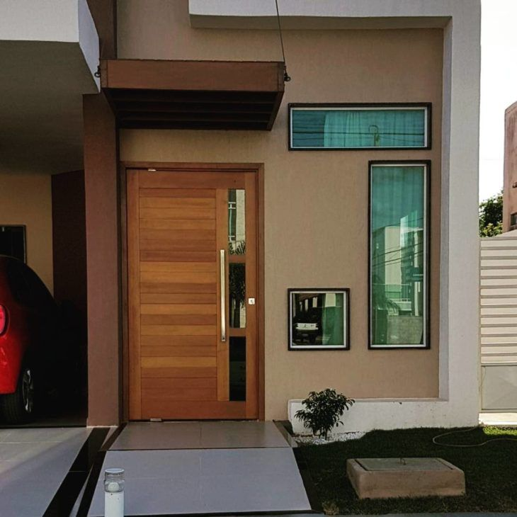 Wooden entry doors: 80 models to transform your interior …