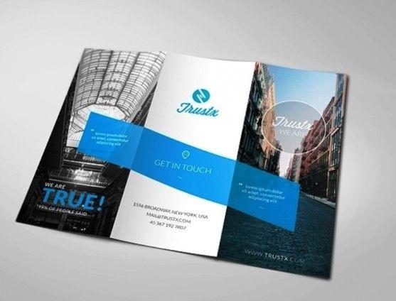 Membuat Desain Brosur untuk Usaha - Trustx - Corporate Tri-fold - microsoft trifold template