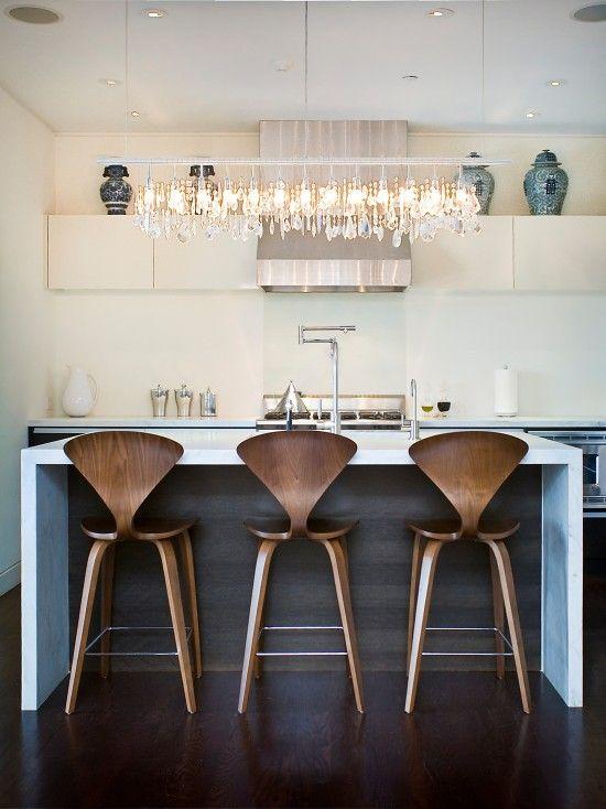 Norman Cherner Bar Stools Contemporary Kitchen Kitchen Stools