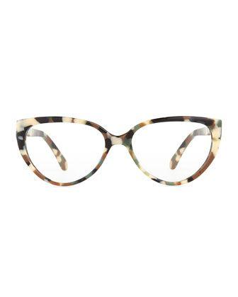 d979a3051ab Prism Cannes Cat-Eye Plastic Fashion Glasses