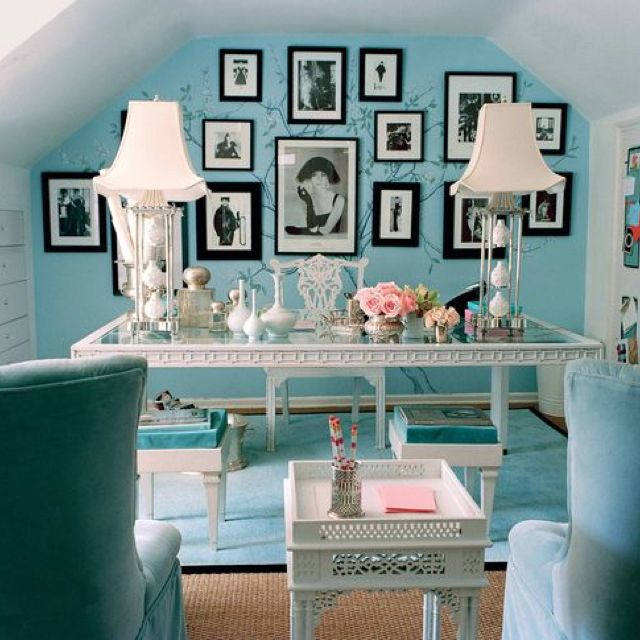 Chic Office Space, Shabby Chic Office, Home