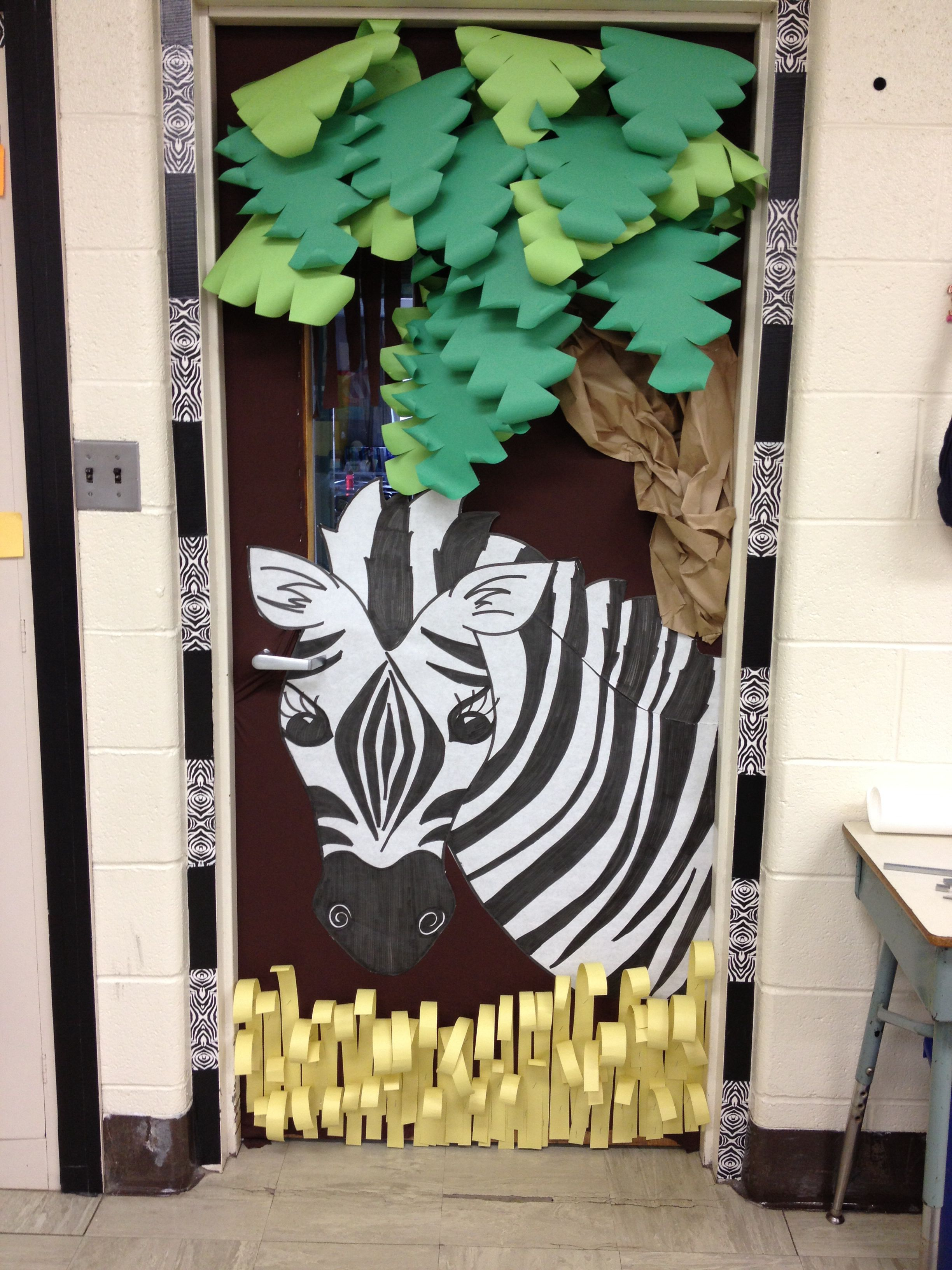 Classroom Door School Things I Ve Done Jungle Theme Classroom
