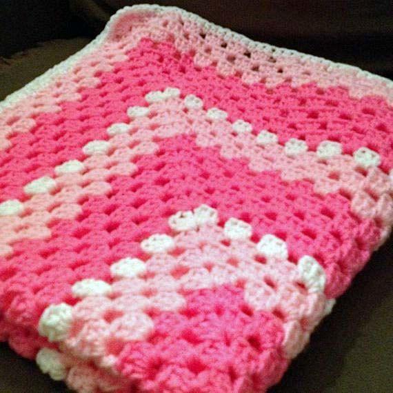 Resultado de imagen para granny square pink and grey   CROCHET ...