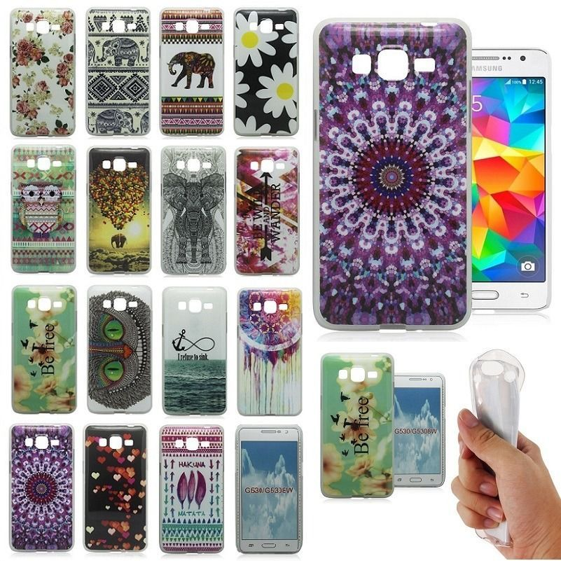 New Soft Rubber Skin Case Cover Back For Samsung Galaxy Grand ...
