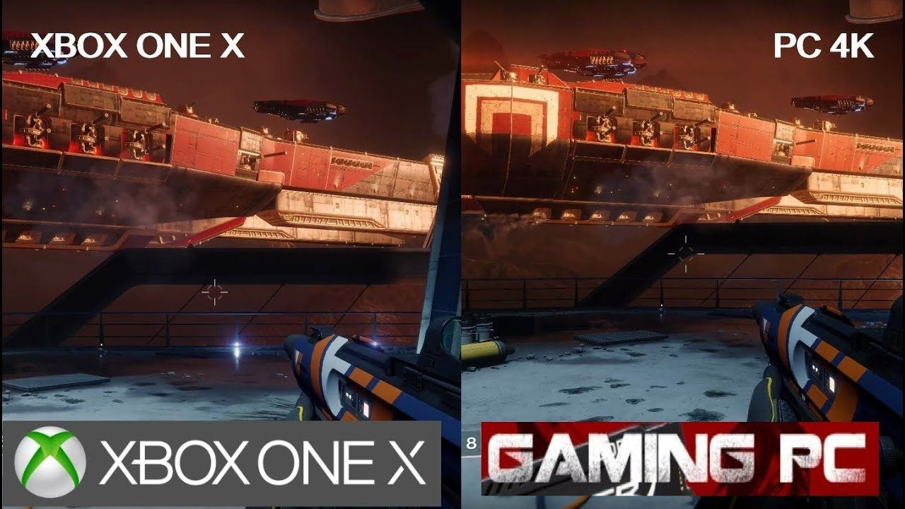 Destiny 2 Xbox One X Vs Pc 4k Gameplay Graphics Comparison