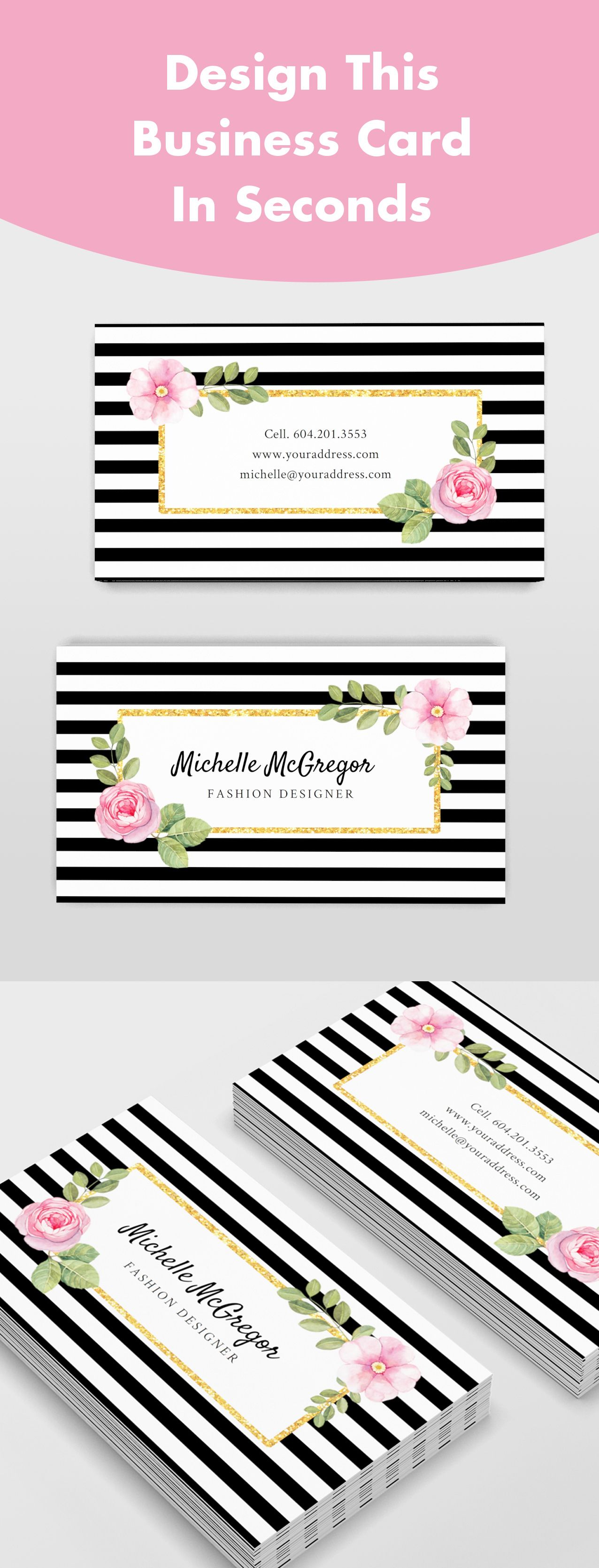Design This Beautiful Business Card In Seconds It S Easy
